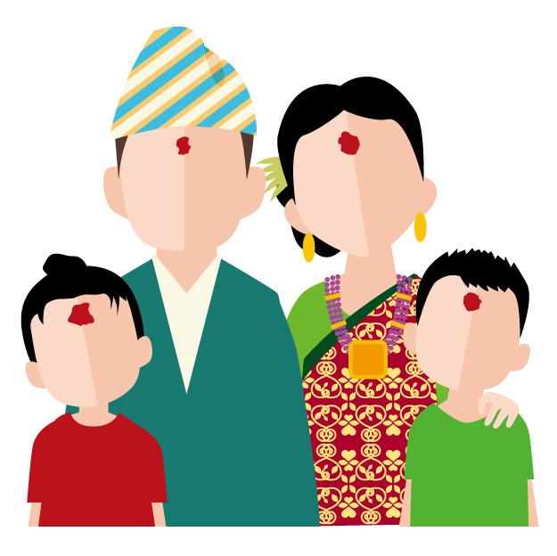 ネパールの家族