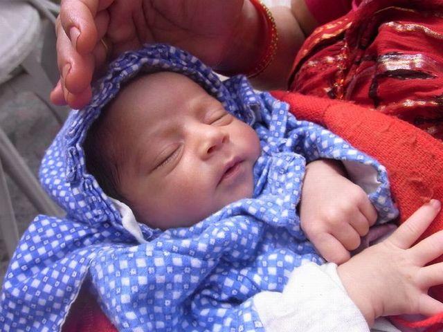 ネパールの赤ちゃん